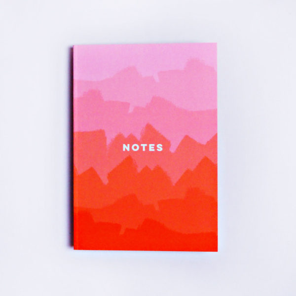 The Completist - Pink Ombre Notebook