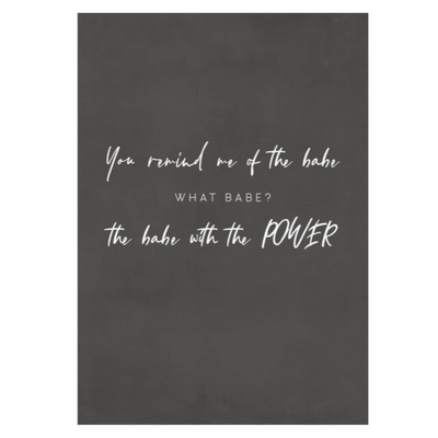 TLPS - 'You Remind me of the Babe - David Bowie' art print