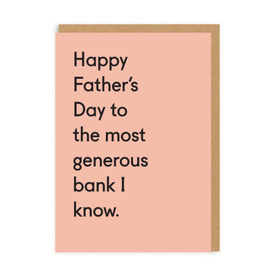 Ohh Deer - 'Generous Bank' Greetings Card