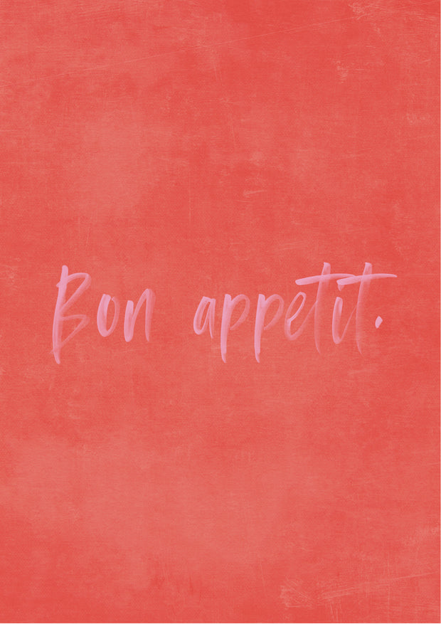 'Bon appetit' French Quote art print - TLPS House Collection