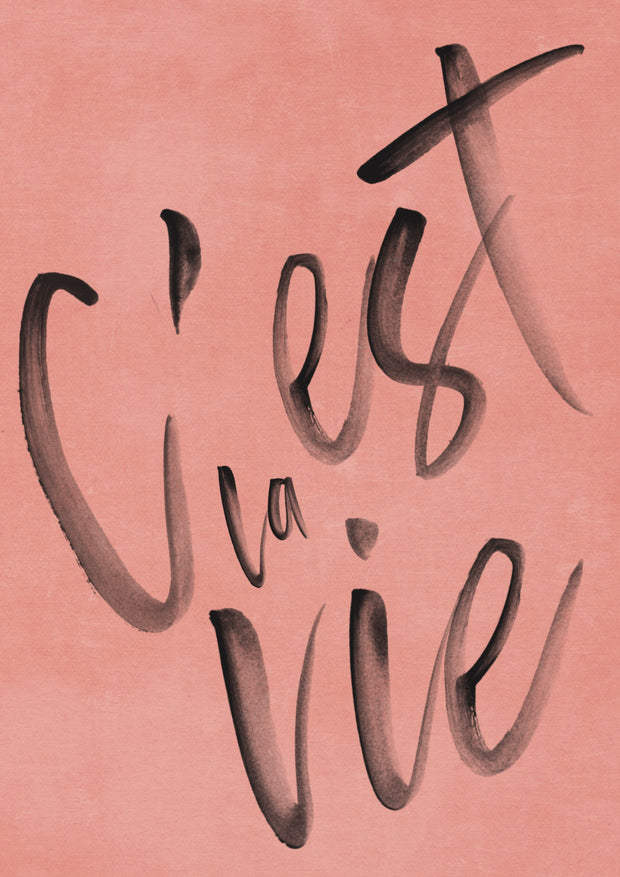 'C'est la vie' French Quote art print - TLPS House Collection