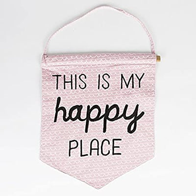 Sass & Belle - THIS IS MY HAPPY PLACE PASTEL MESSAGE FLAG