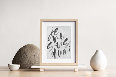 'Je ne sais quoi' French Quote art print - TLPS House Collection