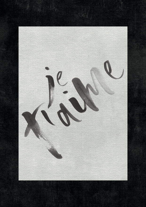 TLPS - 'Je t'aime' French Quote art print