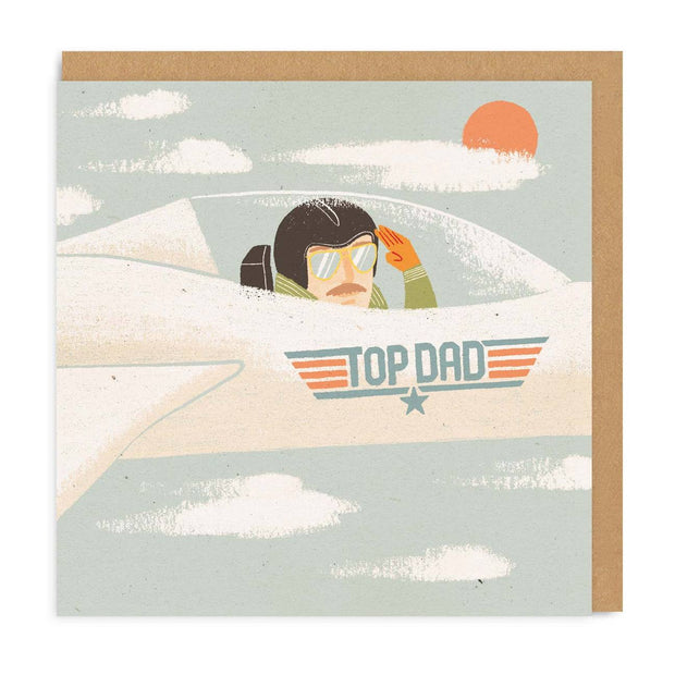 Ohh Deer - 'Top Dad' Greeting Card