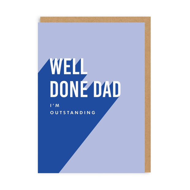 Ohh Deer - 'Well Done Dad' Greetings Card