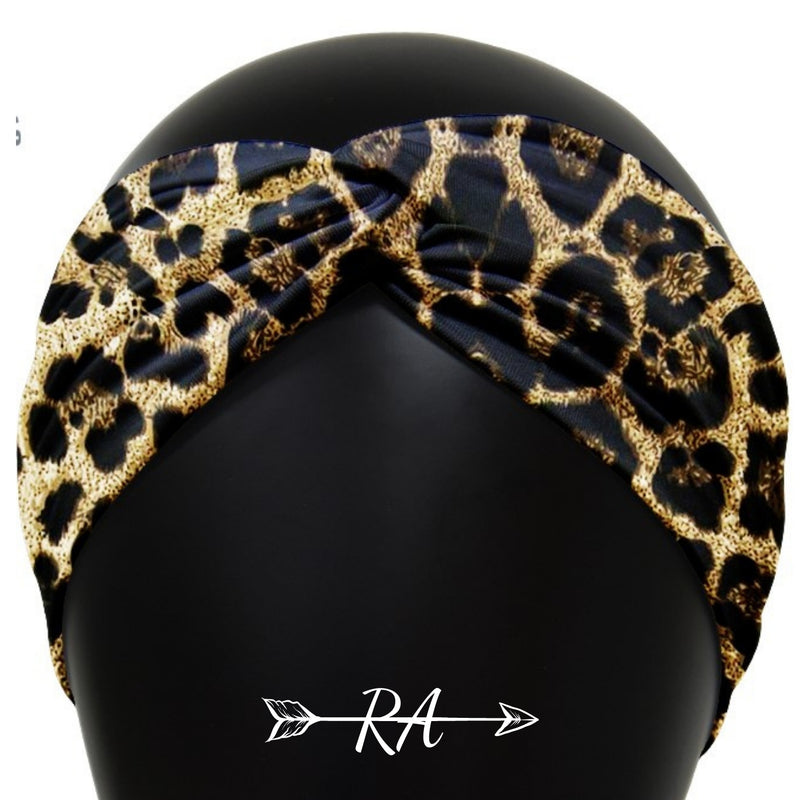 Leopard Knotted Headband