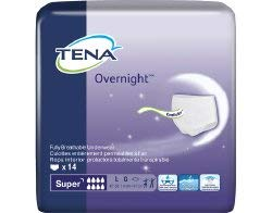 Tena Overnight Underwear Large Case of 56