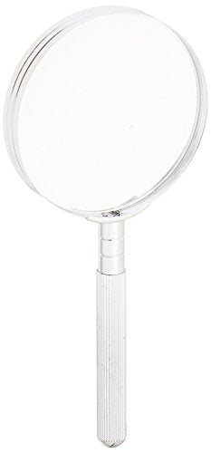 "Se 3"" 2.5 X Chrome Plated Handheld Magnifier   Mm2023"