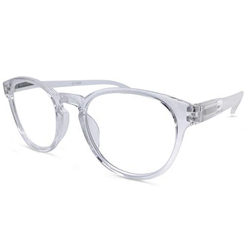 Austin Round Reading Glasses (Clear, 2.75)