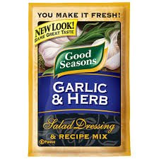 Good Seasons Salad Dressing & Recipe Mix .6-.75oz Packets (Pack of 12) (Garlic & Herb .75oz)