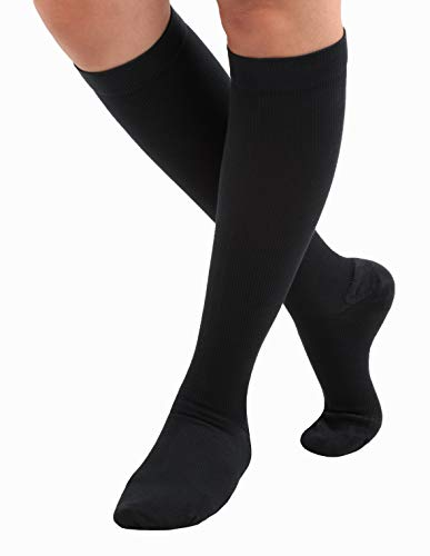 Made In The Usa   Cotton Compression Socks, Graduated Support Travel Socks 20 30mm Hg, Unisex, Closed