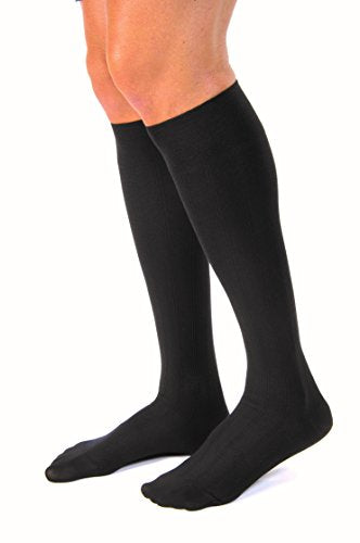 BSN Medical 113102 JOBST Sock with Closed Toe, Knee High, Large, 15-20 mmHg, Black