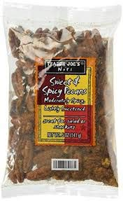 Trader Joe's Sweet & Spicy Pecans 5 oz Bag (Pack of 4)