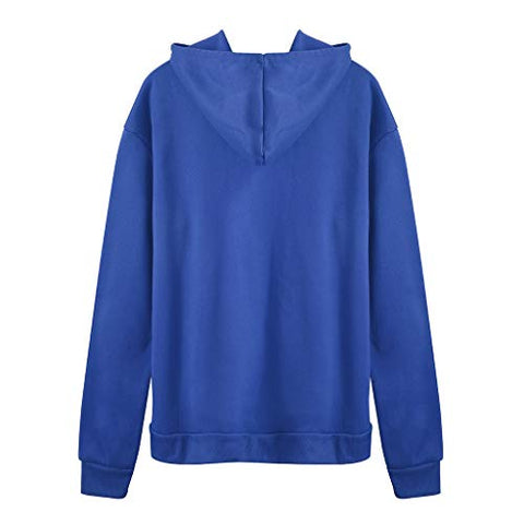 Womens Fashion Tops Casual Long Sleeve Hooded Pullover Ladies Pattern Printed Sweatshirt