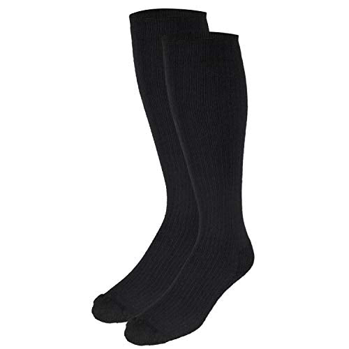 Truform Compression Socks, 10-20 mmHg, Ladies Gym Socks, Knee High Over Calf Length, Black, Medium