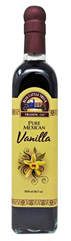 Blue Cattle Truck Trading Co. Pure Gourmet Mexican Vanilla Extract, Large, 16.7 Ounce