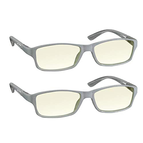 Computer Reading Glasses 3.0 White 2 Pack for Men and Women Stylish Look and Crystal Clear Vision When You Need It! Comfort Spring Arms & Dura-Tight Screws