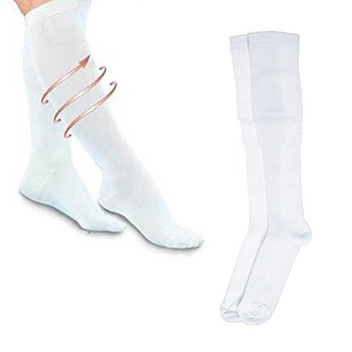 Tasom Compression Socks Over The Calf Below Knee Anti Fatigue Sock For Men's Woman's Foot Feet Ankle