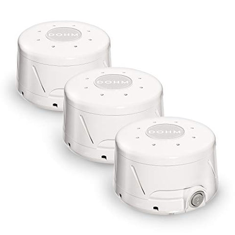 Marpac Dohm Classic (White) | The Original White Noise Machine | Soothing Natural Sound from a Real Fan | Noise Cancelling (3 Pack), 3-Pack Dohm Classic White