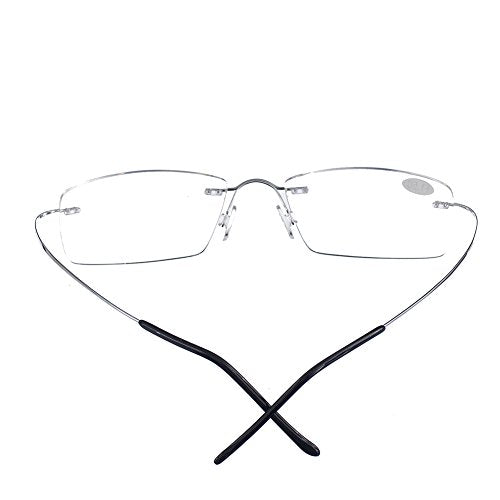 Bi Tao Super Light Reading Glasses 1.75 Men Women Fashion Rimless Reading Eyeglasses 23 Strengths Available + Eyewear Case