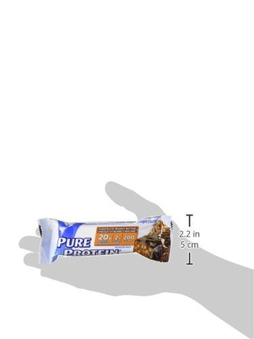 Pure Protein 18bars (6 Choc peanut butter/ 6 Choc Deluxe / 6 Chewy Choc Chip) by Pure Protein