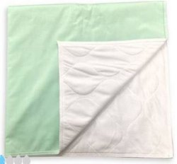 Lew Jan Textile Underpad 34 X 36 Inch Reusable Polyester/Rayon Light Absorbency, M16-3535Q-1G6 - Sold by: Pack of One