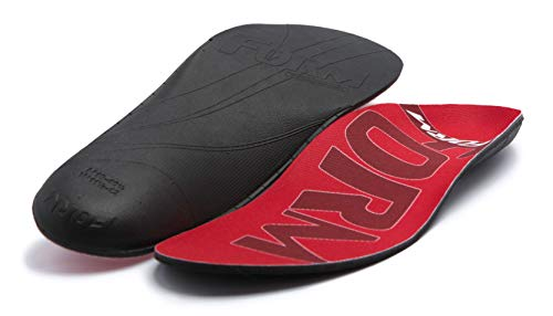 FORM Premium Insoles Narrow | Red Men's 10 - 10.5, Women's 11.5 - 12