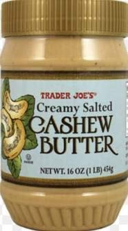 Trader Joe's Creamy Salted Cashew Butter 16 oz (Pack of 6)
