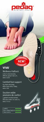 Pedag Viva Orthotic with Semi-Rigid Arch Support, Met and Heel Pad, Leather, US W10/M7/EU40
