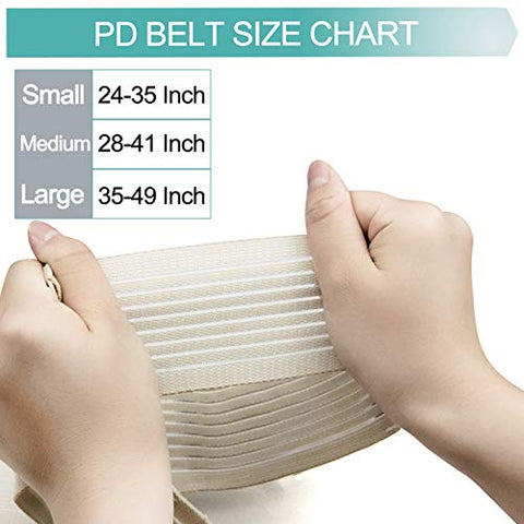 Breathable Peritoneal Dialysis Belt Stretch G/Peg Feeding Tube Holder PD Catheter Covers Bag Drainage Abdominal Fixation Medical Nursing Supplies, Medium(28-41 Inch) Beige