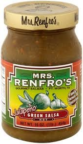 Mrs. Renfro's Hot Jalapeno Green Salsa, 16 Ounce (12 pk)