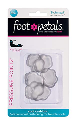 Foot Petals Women's Pressure Pointz, Technogel, One Size, 6 Cushions
