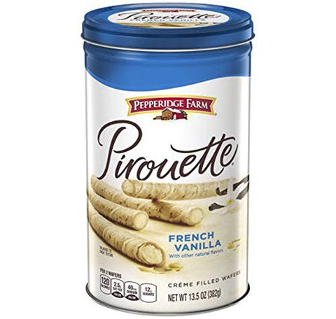 PACK OF 8 - Pepperidge Farm Pirouette French Vanilla Crme Filled Wafers 13.5 oz. Canister