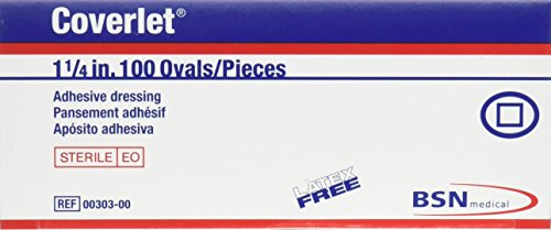 "COVERLET OVAL BANDAGES, 1 1/4"" (Box of 100)"