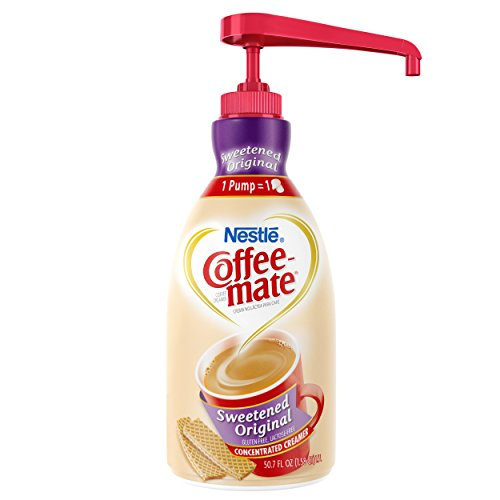 Nestle Coffee Mate Coffee Creamer, Sweetened Original, Liquid Pump Bottle, 50.7 Ounces (Pack Of 2)