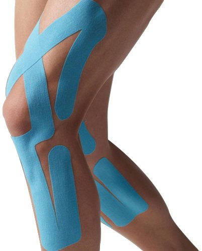 Spidertech Full Knee Therapeutic Precut Kinesiology Tape (Blue)