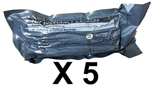"Economy Pack - 6"" Military Israeli Bandage, Shipped from Israel (Lot of 5)"