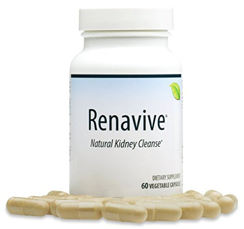 Renavive - Kidney Stone Cleanse (3 Bottles) | Kidney Stones Made Easy | Fast Relief | Dissolve Kidney Stones | Protect Against Kidney Stones | Join Thousands of Users! 60 Vegetable Capsules