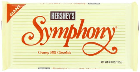 Hershey Giant Symphony Milk Chocolate Bar, 6.8 Ounce (Pack of 12)