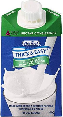 Thick & Easy Dairy Thickened Beverage 8 oz. Carton Milk Flavor Ready to Use Nectar Consistency, 24739 - Case of 27