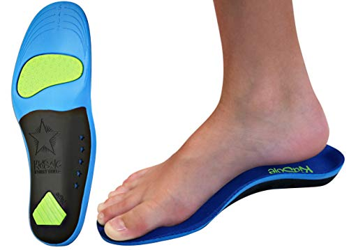 Children's Memory Foam Starry Shield Arch Support Insole for Comfort, Cushion & Arch Support by KidSole ((20 cm) Toddler Size 11-1)
