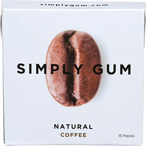 Simplygum Gum Coffee Natural, 15 ct
