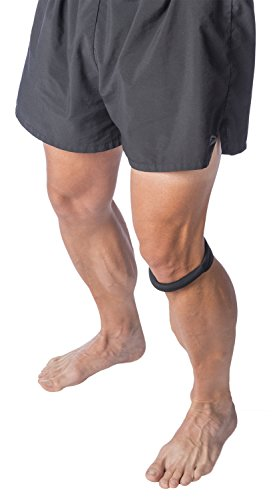 "Cho-Pat Original Knee Strap - Recommended by Doctors to Reduce Knee Pain - Black (XS, Less Than 10"")"