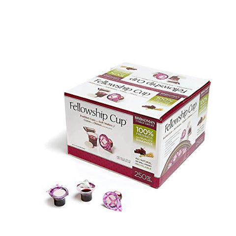 Fellowship Cup - Prefilled Communion Cups - Juice and Wafer - 250 Count Box - Broadman Church Supplies