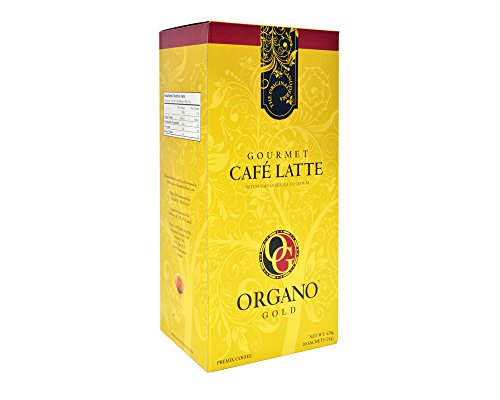 Organo Gold Gourmet Cafe Latte Coffee With Ganoderma Lucidum (1 Box of 20 Sachets)