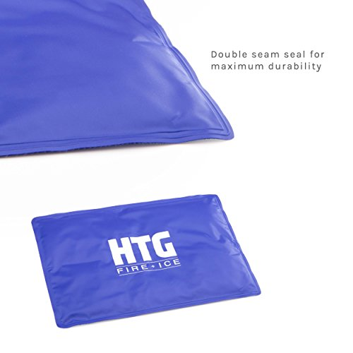 "Htg Life Hot + Cold Therapy Flexible Gel Ice Pack   Extra Large (18.5"" X 12.5"")   Reusable Leakproof"