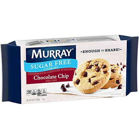 Murray Sugar Free Cookies, Chocolate Chip, 8.8 Ounce Tray, Pack of 12