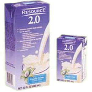 Resource 2.0 Delicious Complete Very Vanilla Flavor 8 oz. Brik Pak