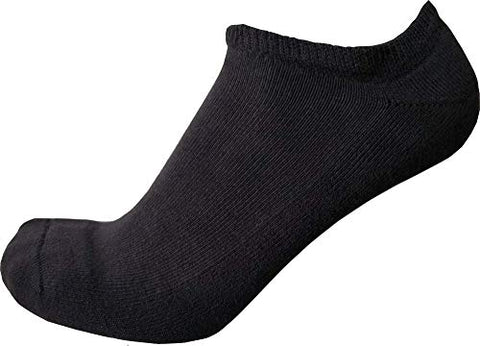Diabetic no Show Low Cut Non Binding Loose fit Socks for Women - 3 Pack (9-11 Black)